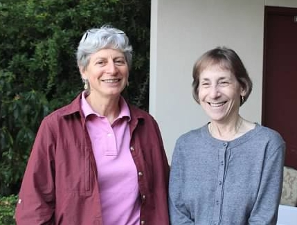From left: HHF Board Chair Elizabeth Keithley, Ph.D., and Board member Judy Dubno, Ph.D.