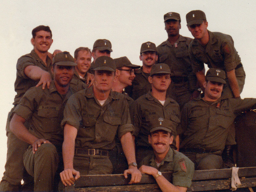 John Dillard and fellow soldiers, Fort Irwin National Training Center, 1977.