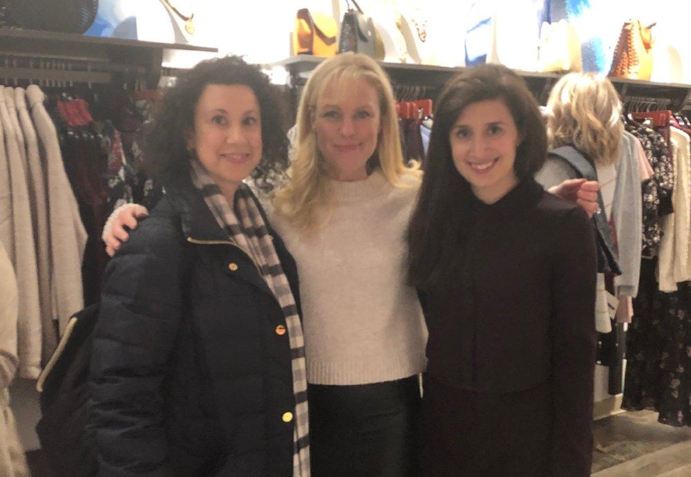 Genevieve Bouchard (center) with HHF Development Associate Gina Russo and Marketing Manager Lauren McGrath.