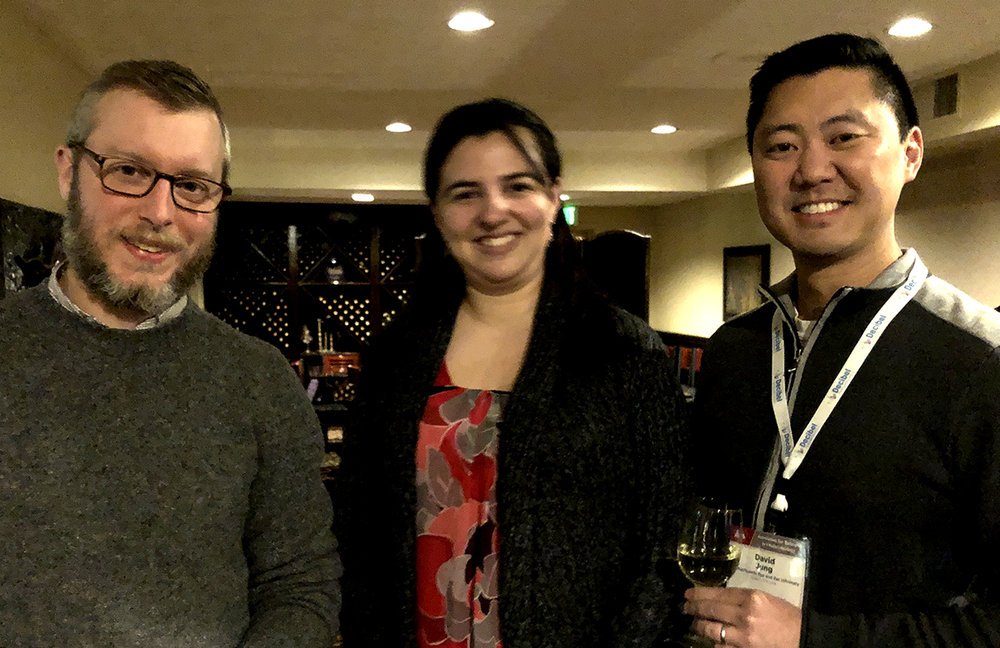 2018 ERG grantees Joseph Toscano, Ph.D., A. Catalina Vélez-Ortega, Ph.D., and David Jung, M.D., Ph.D.