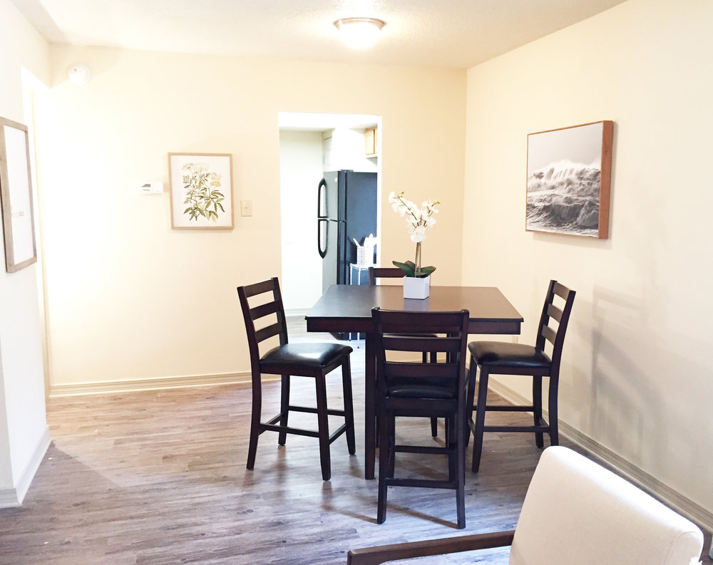 Dining Area in One Bedroom Unit