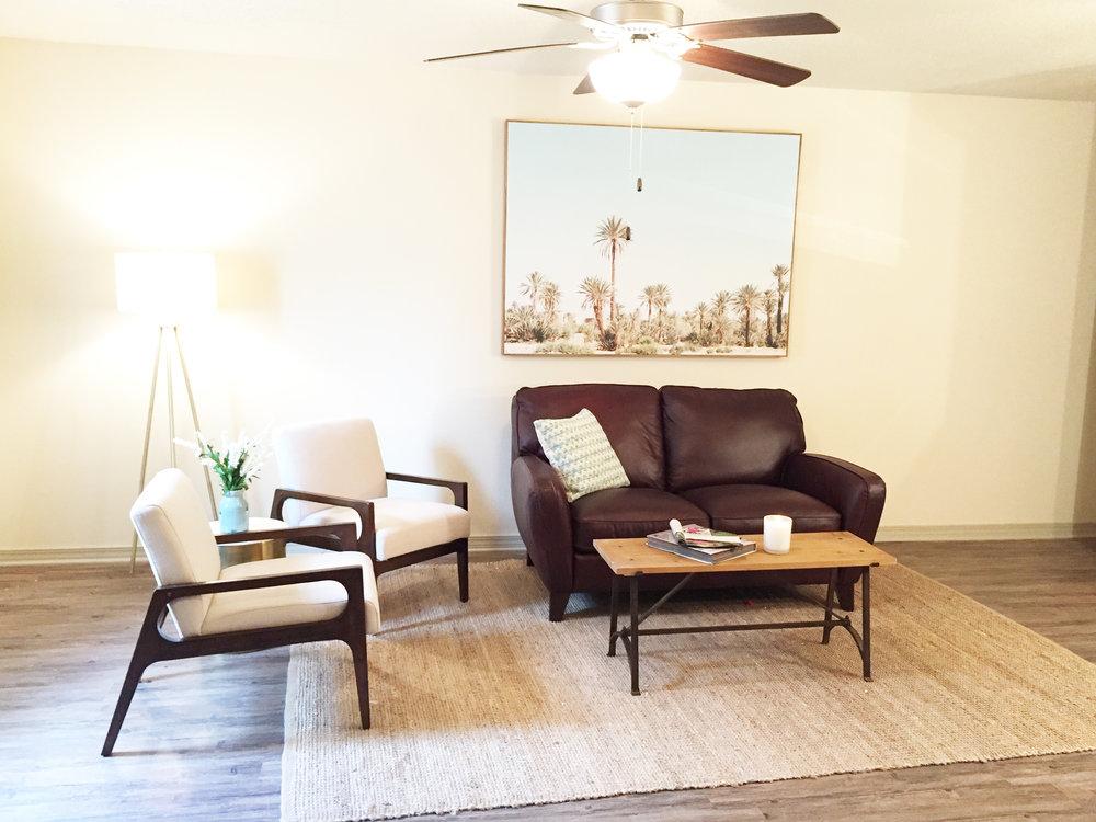 Living Room in One Bedroom Unut