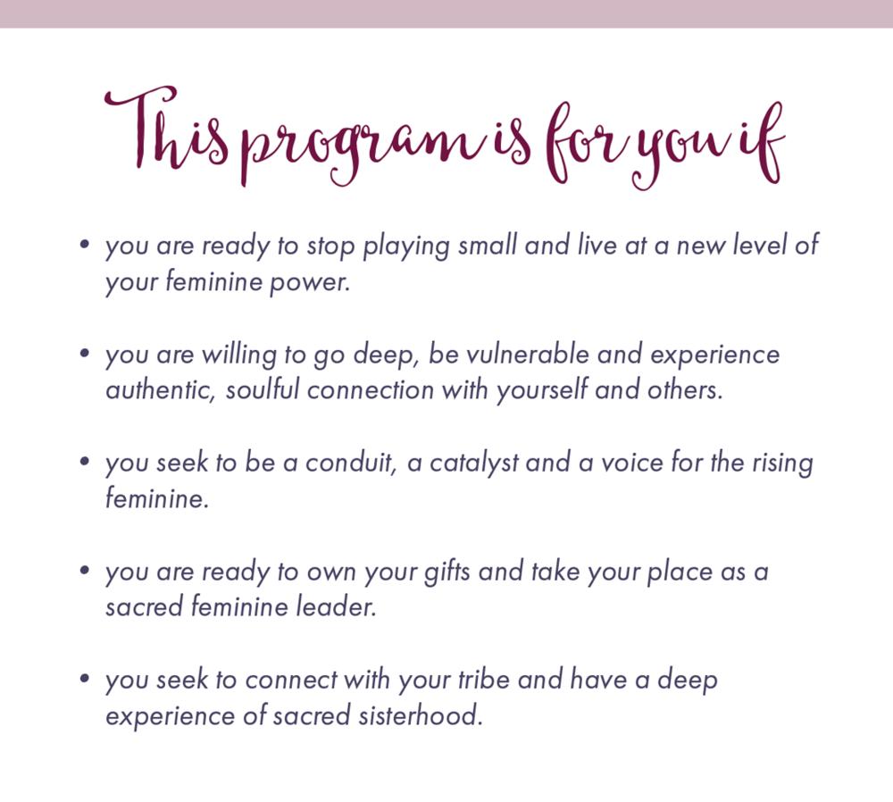Priestess Rising Program Details