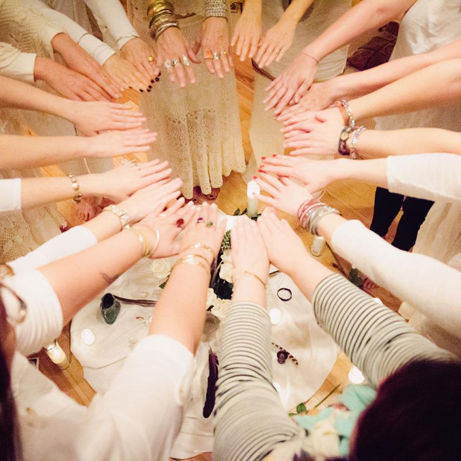 Creating a circle and sisterhood
