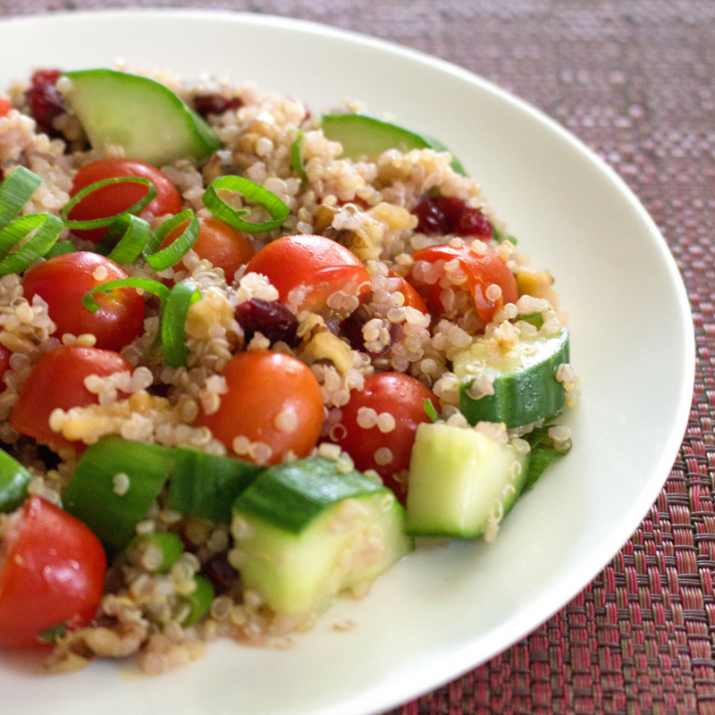 Cranberry Walnut Quinoa Salad