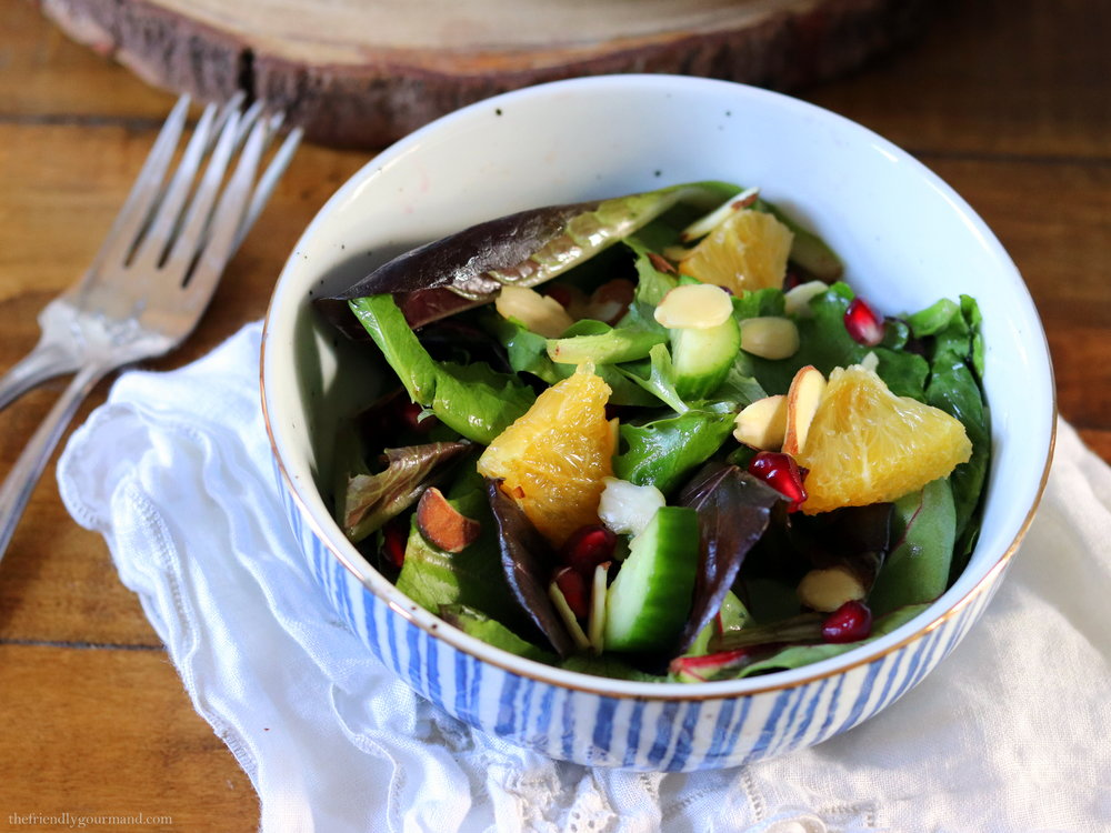 Pomegranate Citrus Salad with a Spiced Balsamic Vinaigrette | Low-FODMAP-Gluten-Free-Vegan