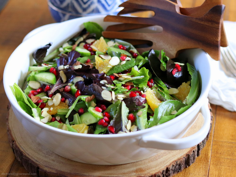 Pomegranate Citrus Salad with a Spiced Balsamic Vinaigrette | Low FODMAP, Gluten Free & Vegan