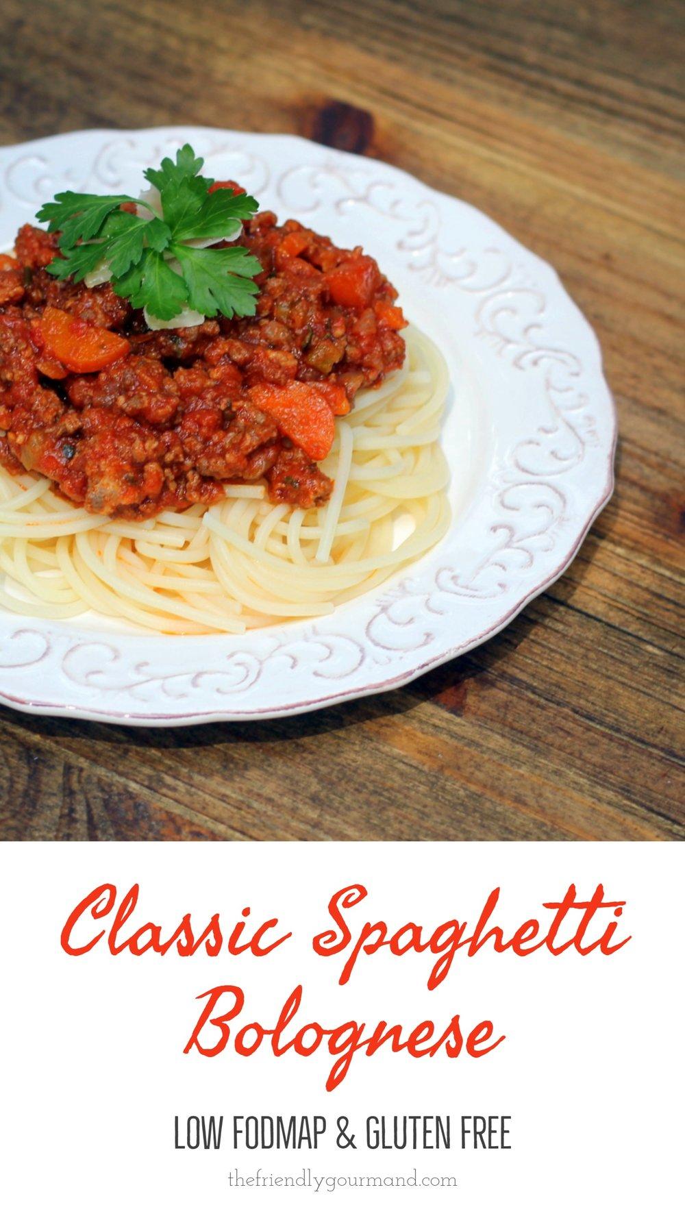 Classic Spaghetti Bolognese - Low FODMAP & Gluten Free - The Friendly Gourmand - long pin.jpg