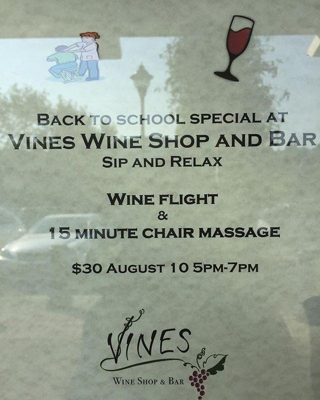 TOMORROW!  #winebar #wineshop #wine #marincounty #sananselmo #massage #marin