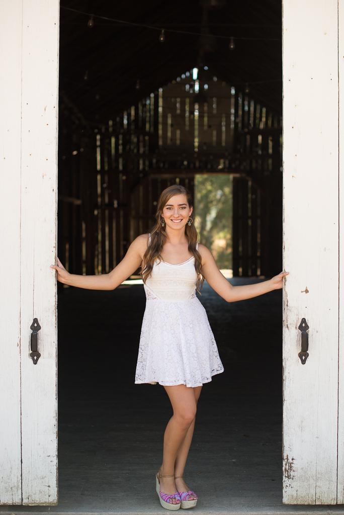 White Doors-Senior Portrait