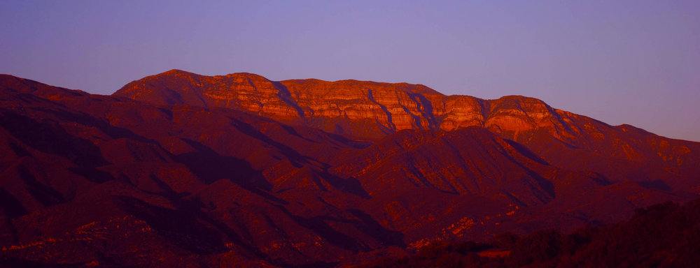 The Pink Moment on the Topa Topa Mountains, Ojai, California