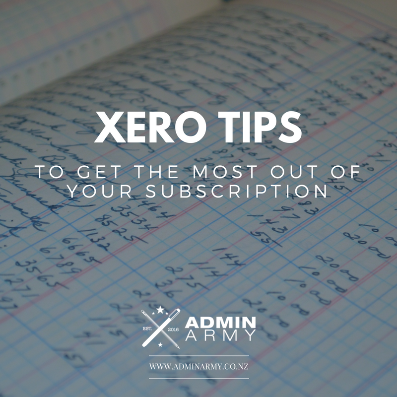 Tax Invoice Excel Template Pdf Xero Tips Get The Most Out Of Your Subscription  Admin Army  Rent Receipt Template Doc with Example Proforma Invoice Xero Tips Get The Most Out Of Your Subscription  Admin Army  Hawkes Bay  Virtual Assistants  Bookkeeping Vehicle Invoice Price By Vin Pdf