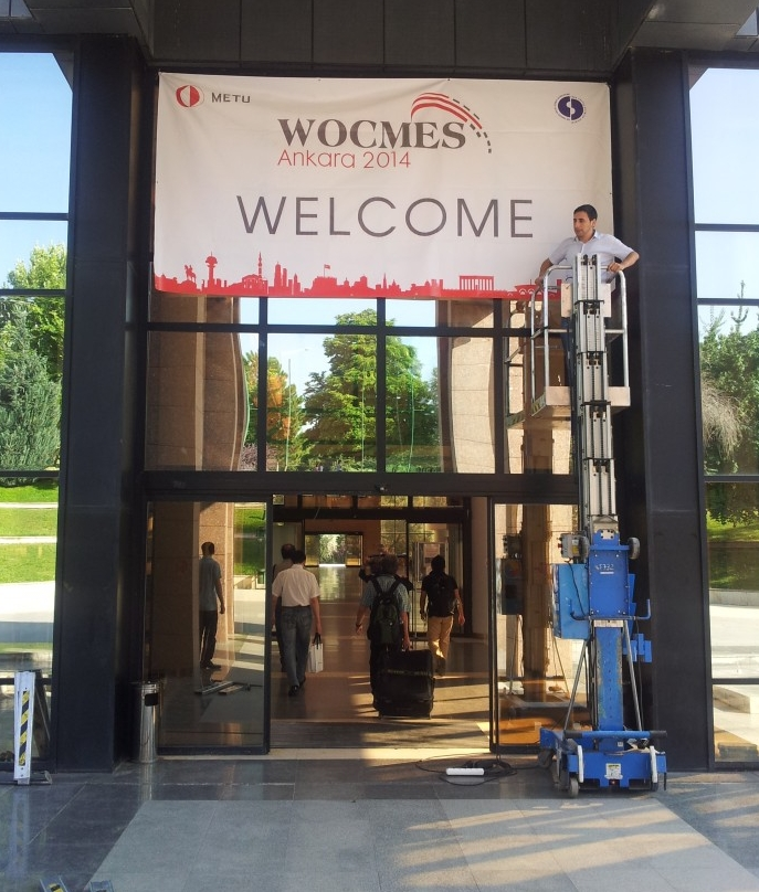 The entrance of the Culture and Convention Center (CCC) of the Middle East Technical University (METU) – Ankara, where WOCMES 2014 was held (Photo credit: Faris Nadhmi, 2014)