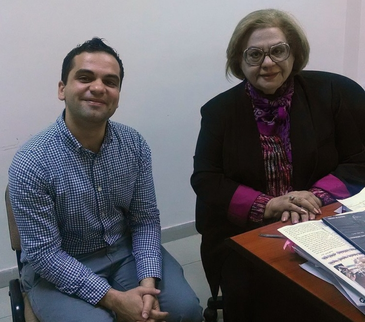 Louis Yako (left) with an Iraqi professor of media (Photo credit: Louis Yako, 2014)