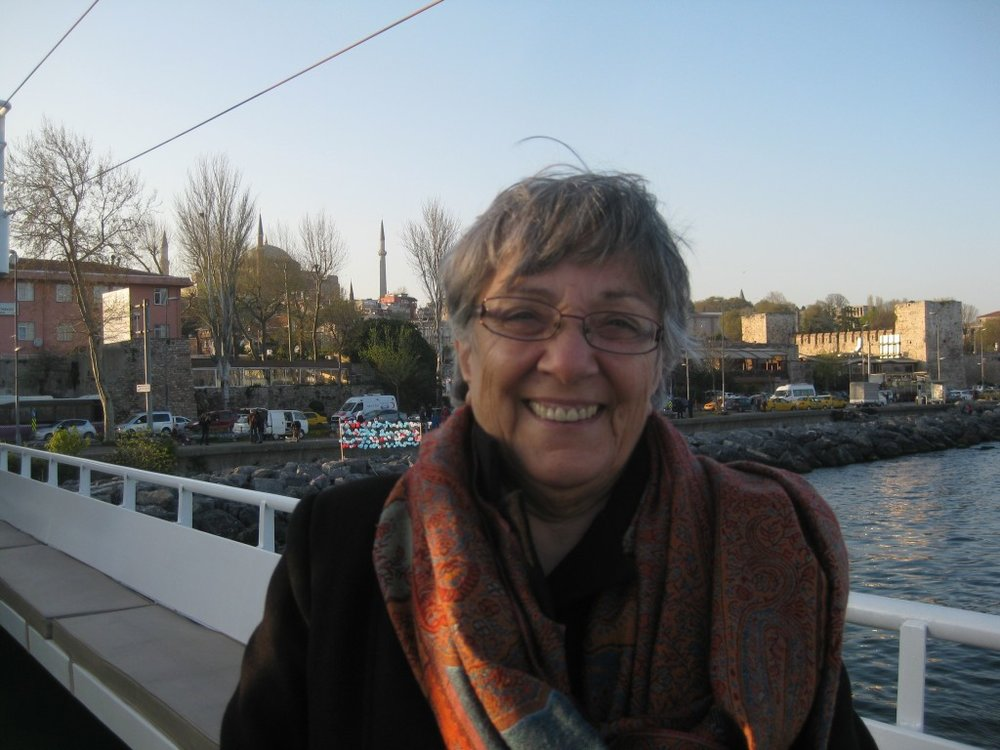 TAARII's Overseas Director, Lucine Taminian, preparing to begin a cruise on the Bosporus on the final evening of the three-day workshop with directors of CAORC's American overseas research centers (Photo courtesy of Barbara A. Porter, ACOR)