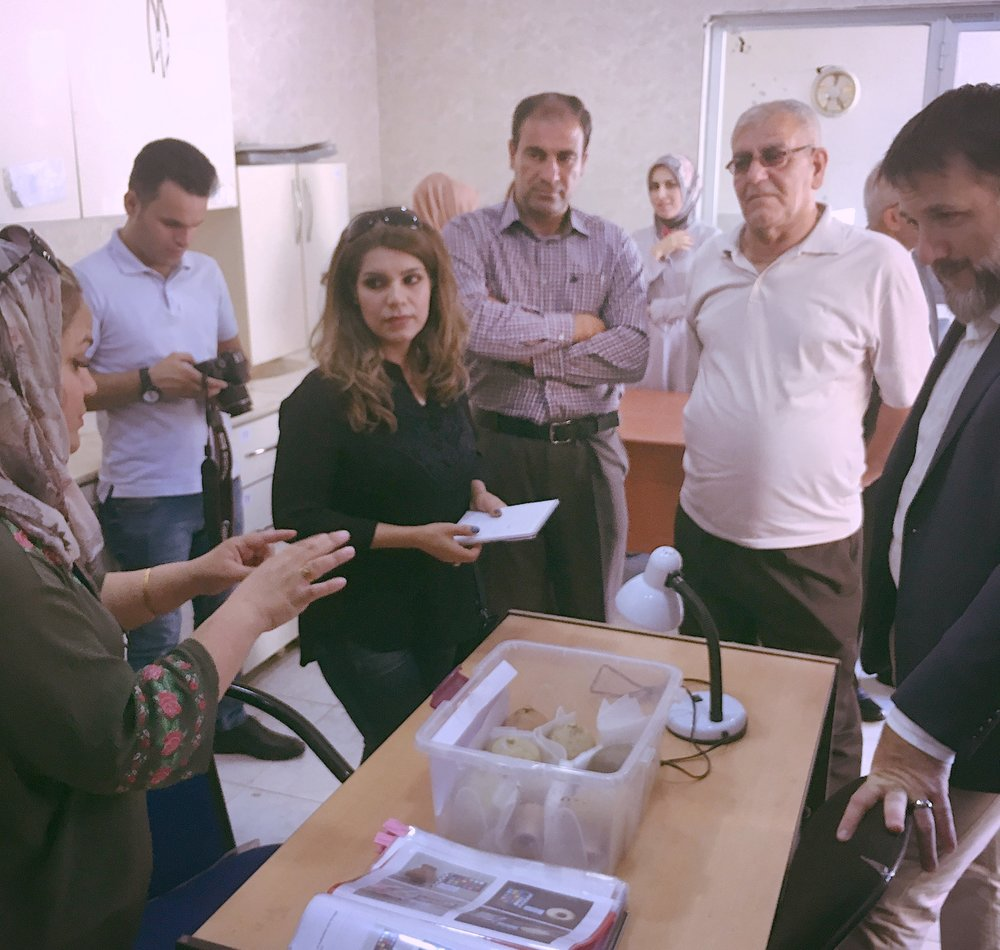 The Council speaks with the Erbil Civilization Museum conservators and tours their lab - Photo credit: TARII, 2018