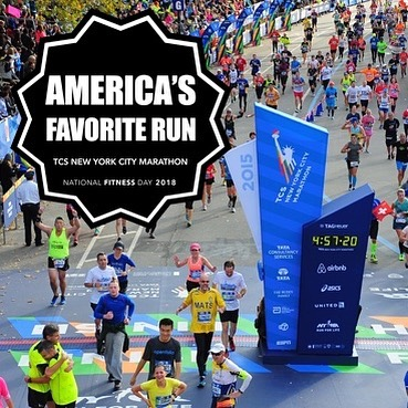 Our 2018 Award for America's Favorite Run goes to @nycmarathon! 🥇🗽 . It's not uncommon to hear someone say they were inspired to start running after witnessing a major race like The New York City Marathon. And it's truly hard not to be moved by the rows of posters from the sidelines, tears and cheers at the finish line, and sense of pure camaraderie from people across the city all weekend long. . Today The New York City Marathon holds title to the largest marathon in the world, with over 50,000 finishers a year. 🏃🏾‍♂️🏃🏻‍♀️ And it's not a bad way to experience the Big Apple, either, as the course literally makes its way through all five boroughs of New York. Ferry after ferry bring participants to the starting point in Staten Island, from which an iconic mob of runners cross over to Brooklyn, and eventually make their way down to the finish line in Central Park. . The New York Marathon is a unparalleled cultural experience, to say the least. Find out more, or sign up for your spot in the 2018 race at tcsnycmarathon.org . For all of this year's winners, head over to the site through the link in our bio! 👆🏽🏆