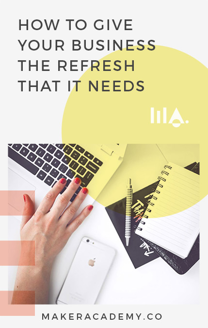 Refreshing and improving your business is essential to success, especially If you're a creative entrepreneur, or blogger. I break down how to give your website an impactful overhaul. Click to read!