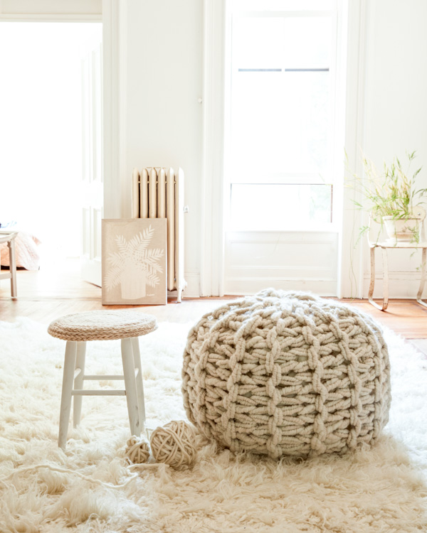 Flax and Twine -giant-pouf-and-stool-