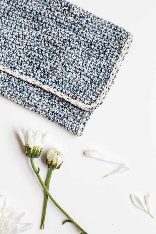 Flax and Twine crochet clutch