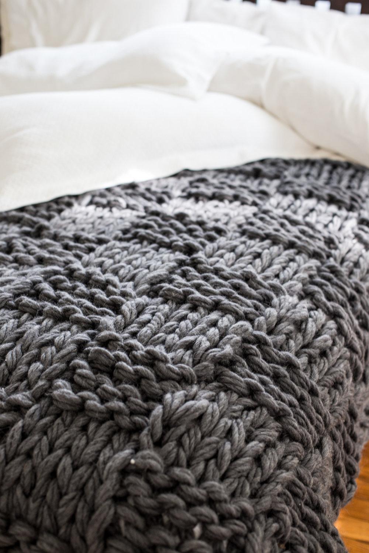Flax and Twine basket weave blanket