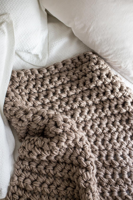 Flax and Twine crochet blanket