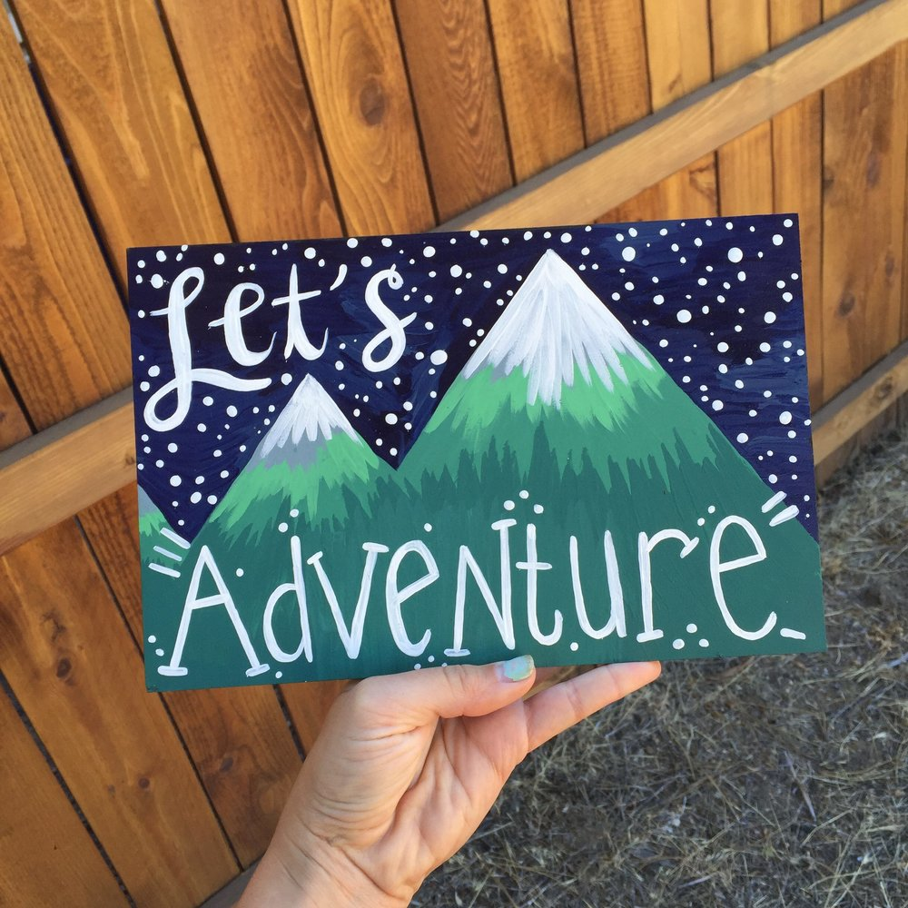Let's Adventure Mountain Illustration by Mlejay
