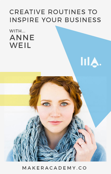 Creative routines with Anne Weil.If you're a creative entrepreneur, blogger, business owner you're not going to want to miss this article. Click to read!