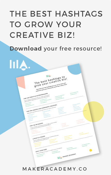 Discover the best Instagram Hashtags you should be using to grow your business in our FREE cheat sheet. If you're a maker, creative entrepreneur or blogger you're not going to want to miss this.
