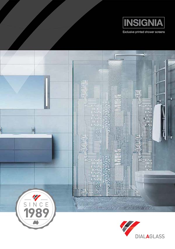 INSIGNIA  - Exclusive, printed glass shower screens