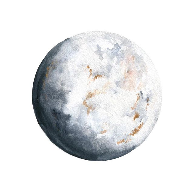 A moon exploration via watercolor and gouache paints. I painted 8 of these in one (lengthy) sitting, all the while challenging myself to see imperfections as interesting attributes instead of reasons to scrap the whole thing. • Often my perfectionism and inner critic keep me from even getting out my paints. This year, I want to fight that. • To the perfectionists out there: In 2018, let's show our inner critic who's boss!👊🏼👊🏽👊🏾👊🏿