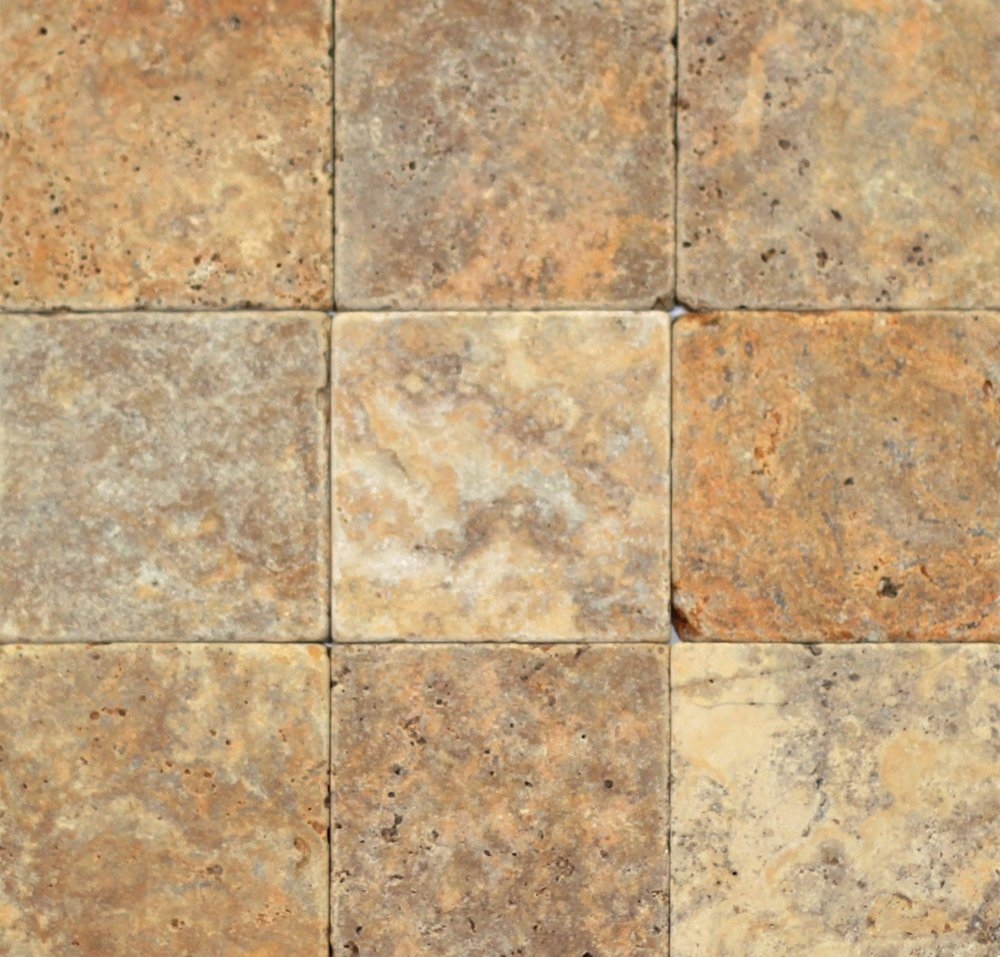 Turkish Travertine Autumn Leaves