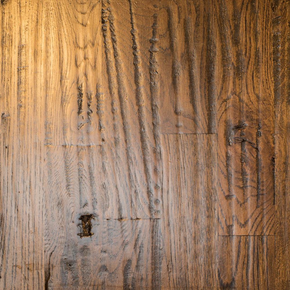 White Oak 3 1/4 #3 Hand-scraped Ebony Masterline