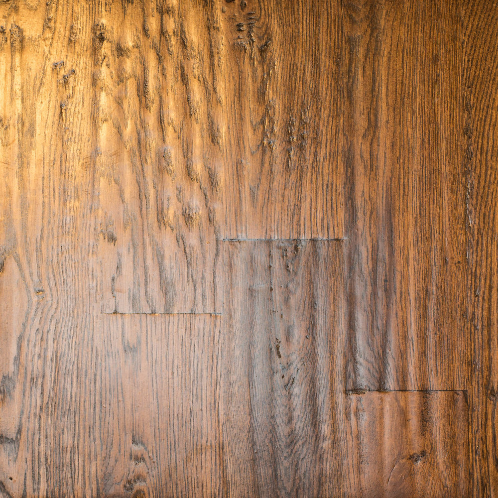 White Oak 4 #2 Hand-scraped Jacobean Masterline