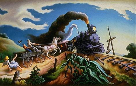 "Thomas Hart Benton's ""Wreck of old '97"" provided the spark of inspiration for Eötvös' new work ""Wild October Jones"""