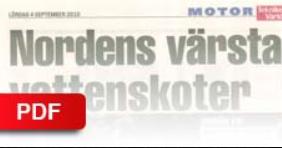"""EXPRESSEN MOTOR - 2010    """"Nordens värsta vattenskoter"""""""