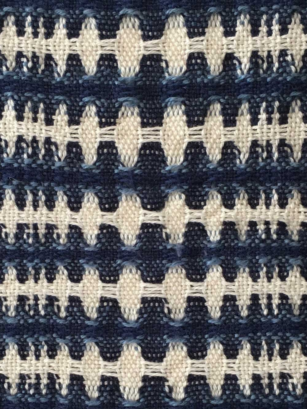 Woven Structure – Blue/white/black #1