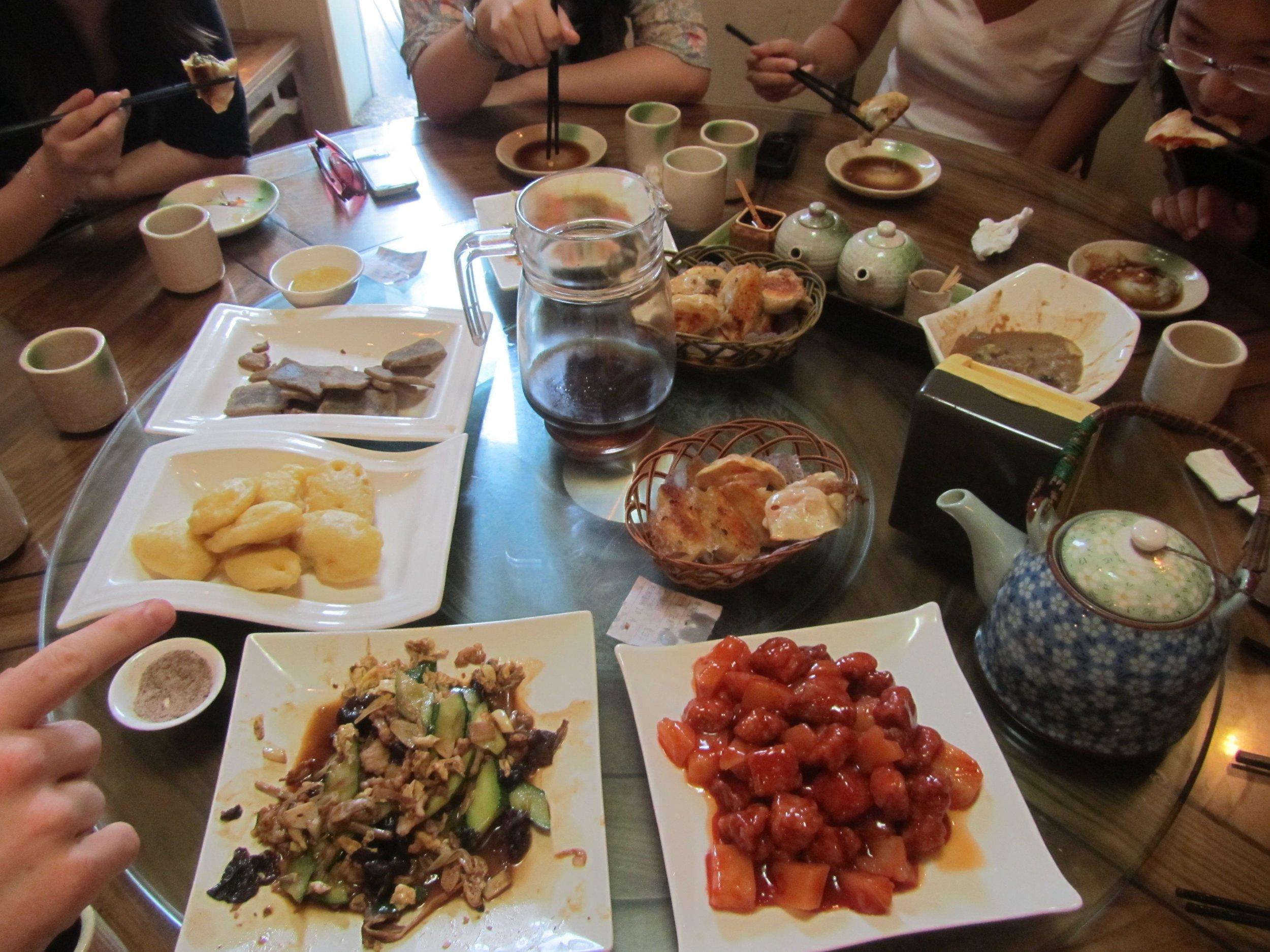 The spread at Xianlaoman Dumpling house