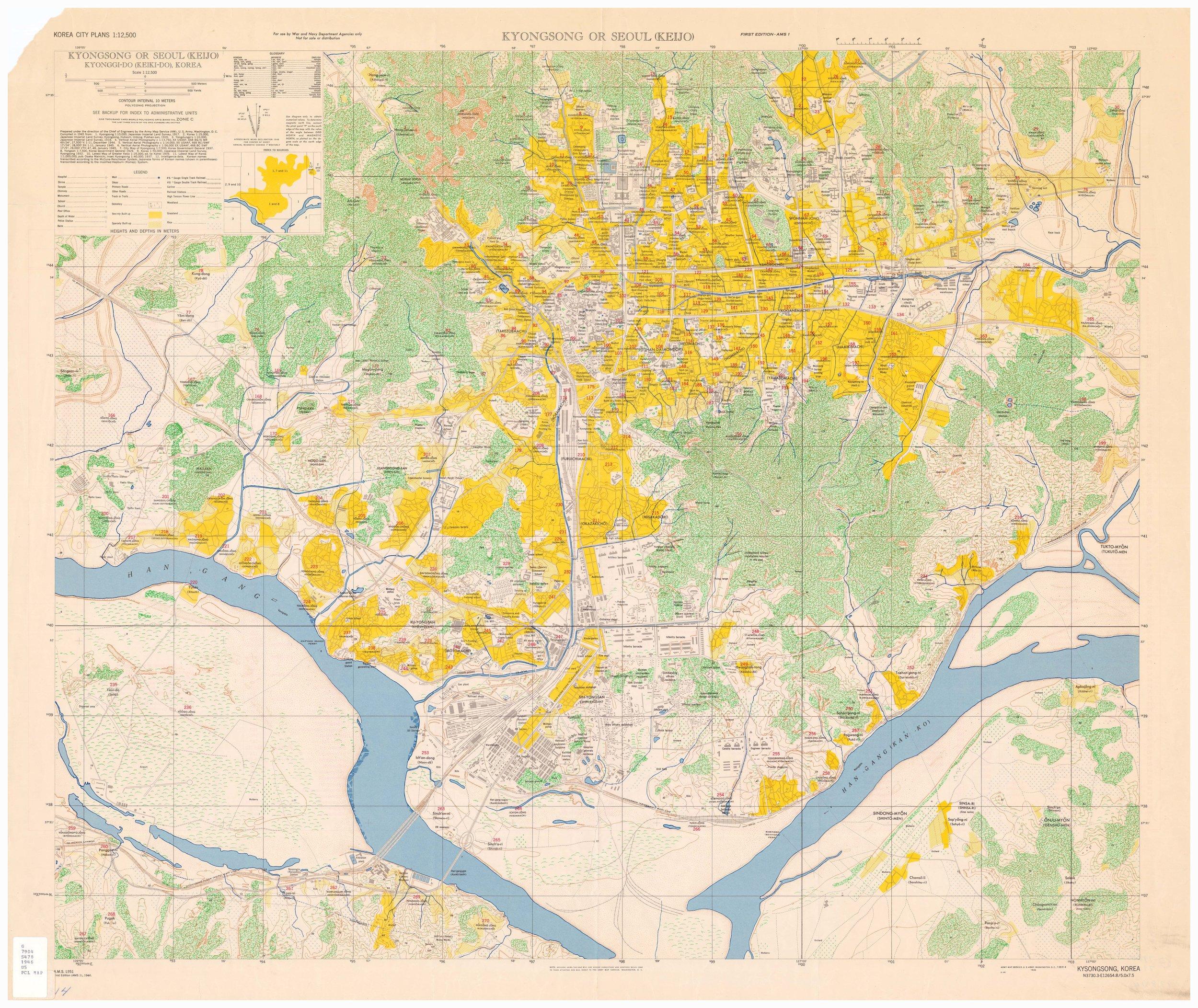 Seoul 1946 Map