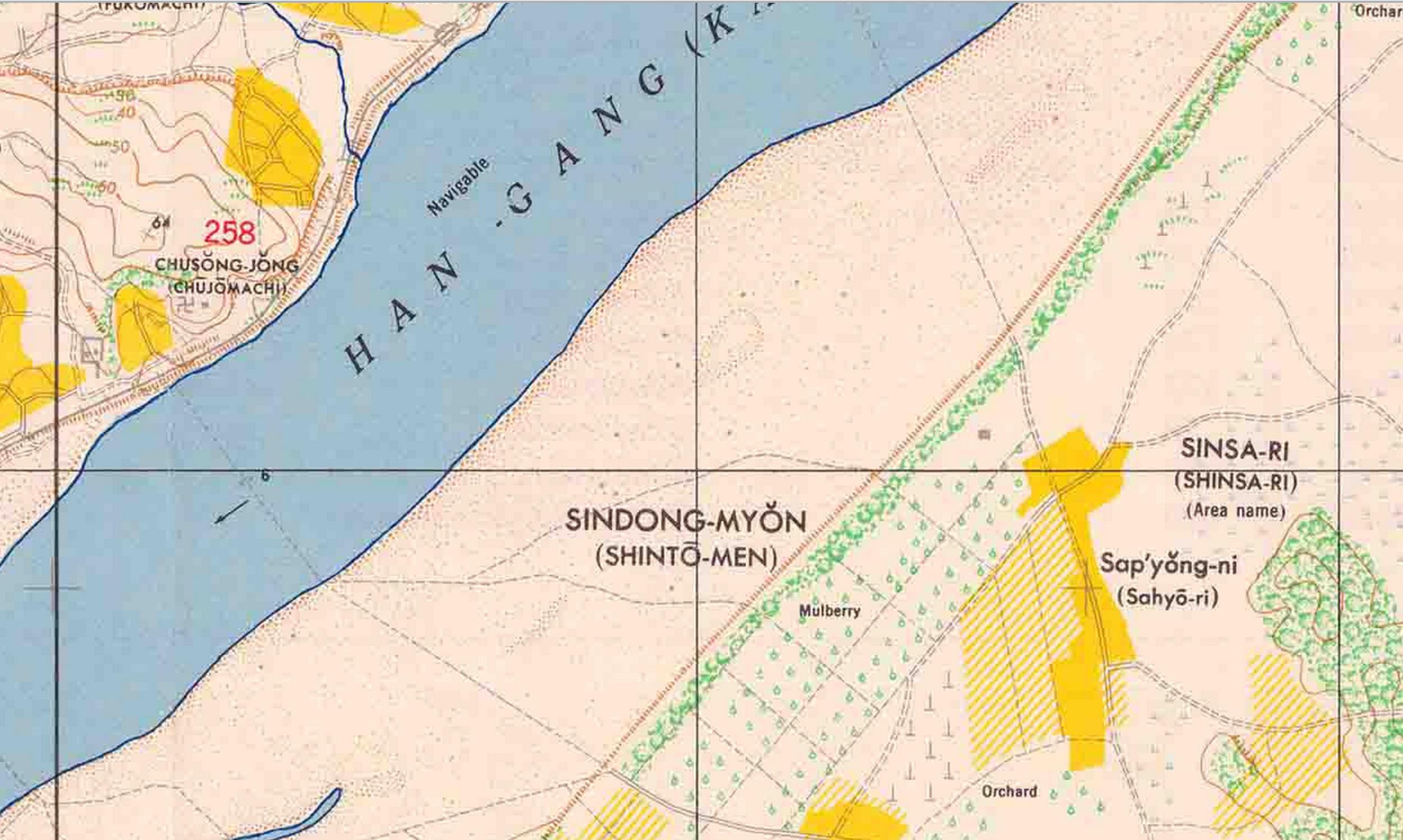 sinsadong 1946 map