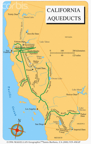 Map of California Aqueduct System