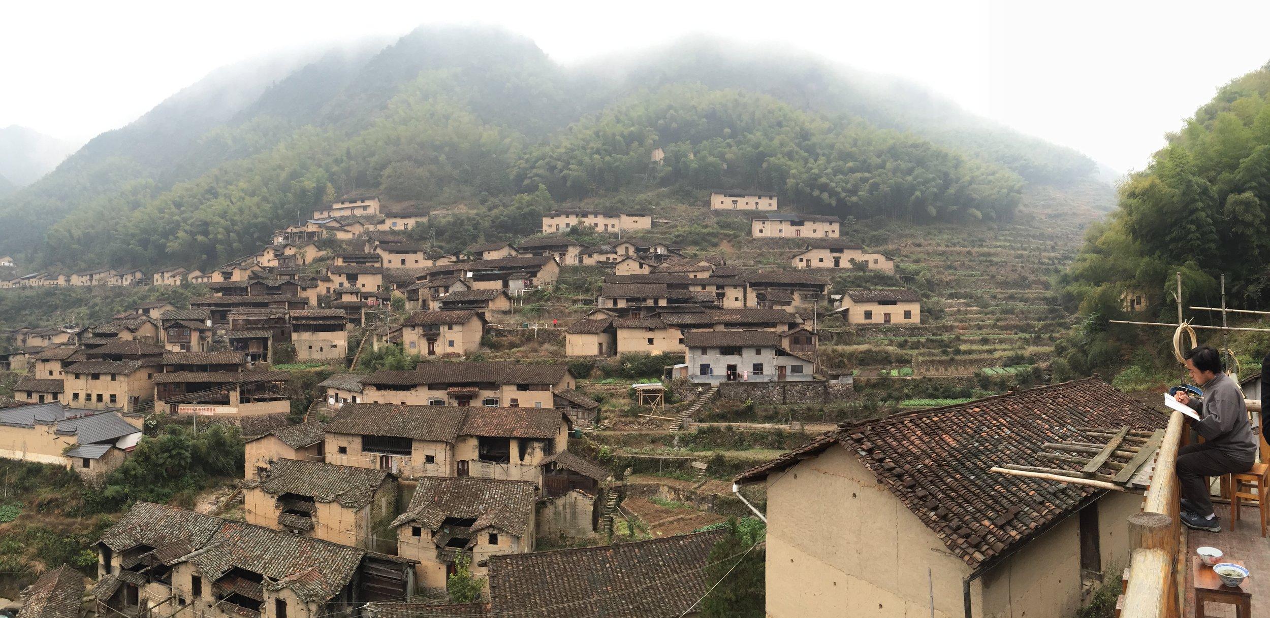 黄坑村 全景