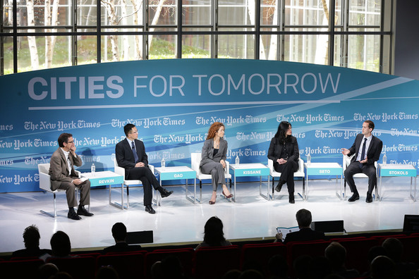 "Speaking on the panel on China's urbanization at the 2014 New York Times ""Cities for Tomorrow"" Conference"