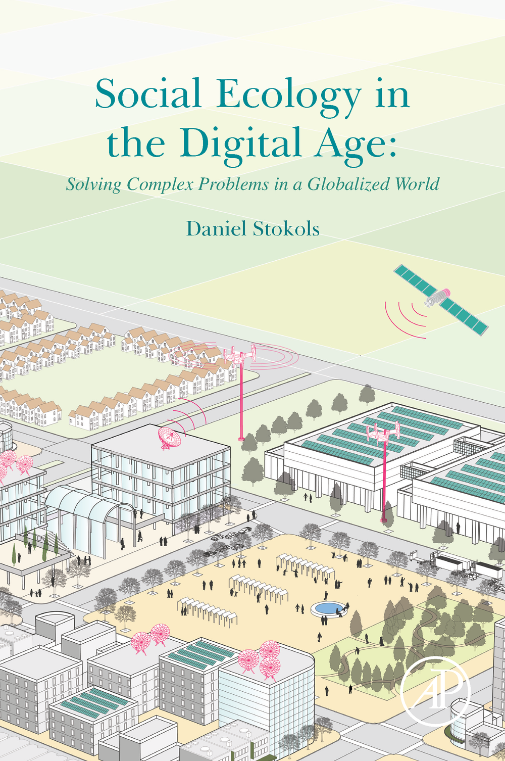 Social Ecology in the Digital Age.   Cover Art for Book.