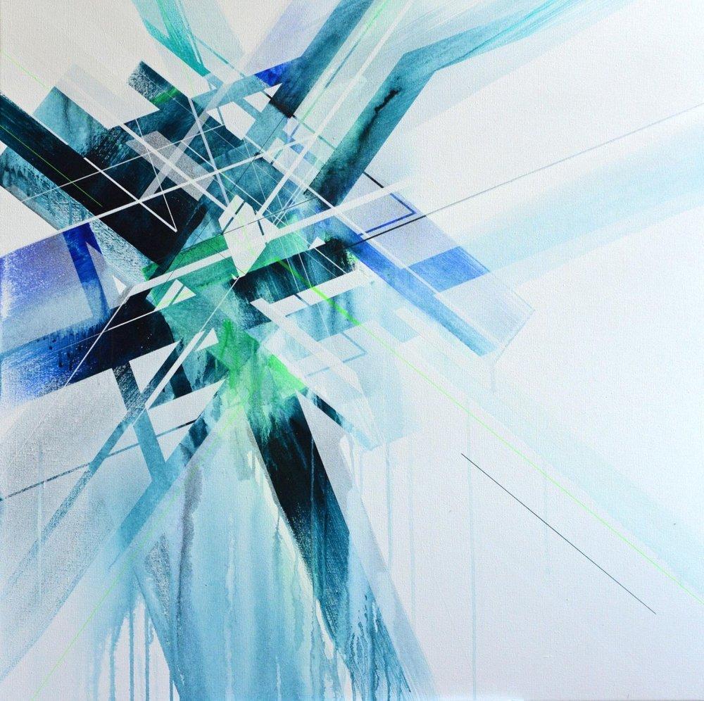 This piece is in Stefan's stairwell!  http://www.davidblochgallery.com/en/artistes/nawer/