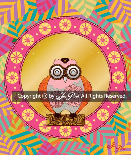 JIN PARK/HIRO/41X51cm/MIXED MEDIA ON CANVAS/2016 _ 全著作権所有。 著作権はヒロとジン・パークにあります。 ®