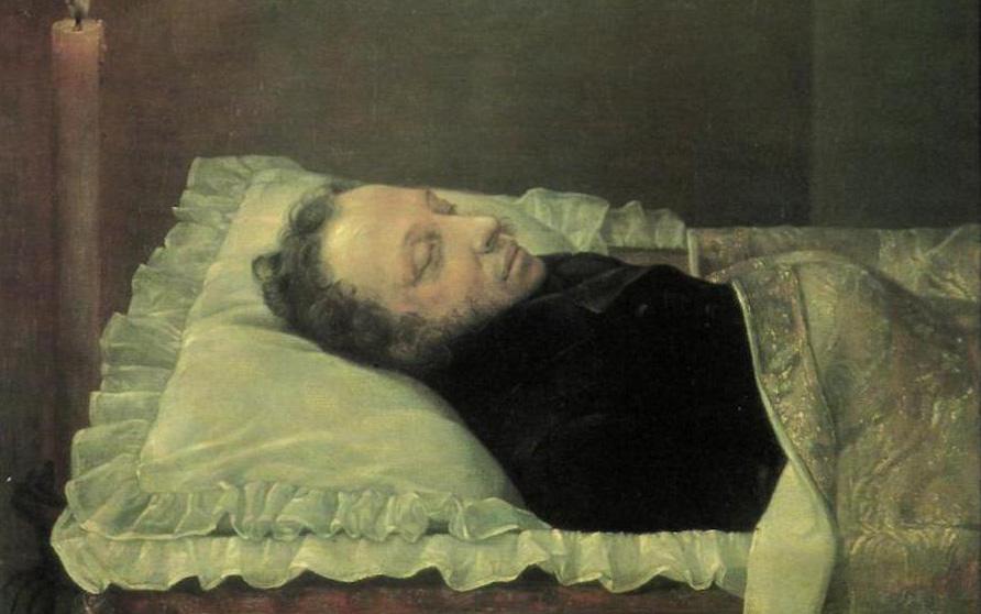 «Пушкин на смертном одре»Александр Козлов, 1837