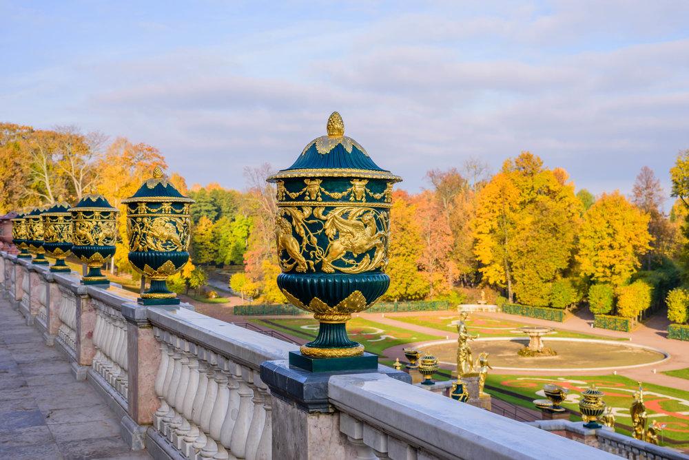 Петергоф. Вид с террасы Большого Петергофского дворца