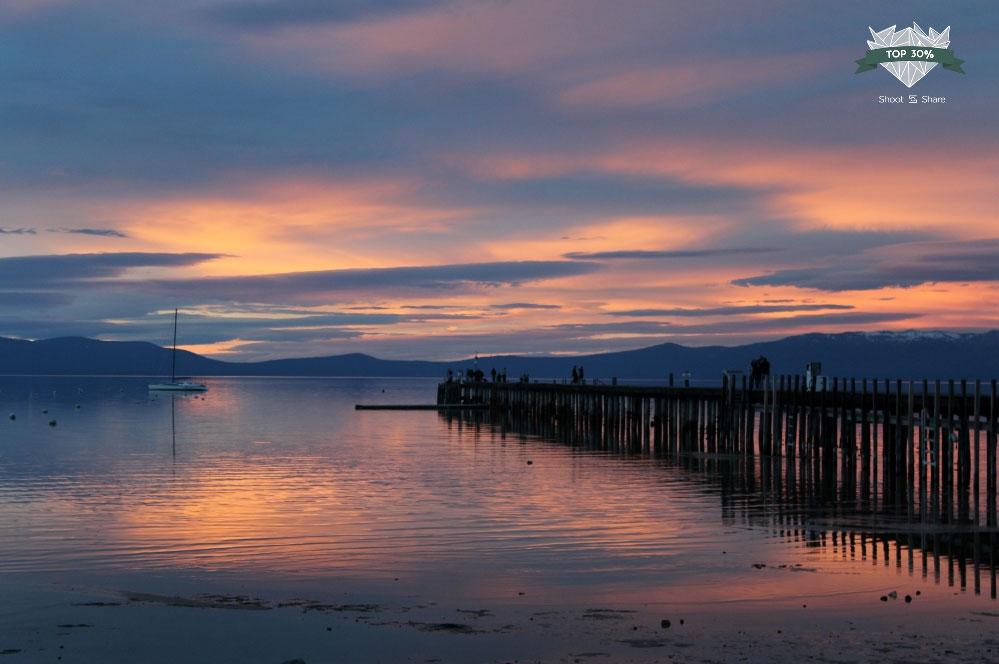 South Lake Tahoe, California sunset