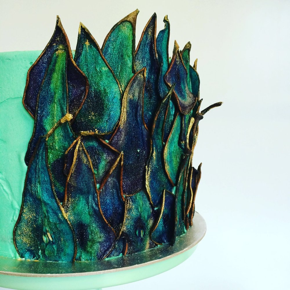 """Peacock """"Feather"""" Cake  From £75"""